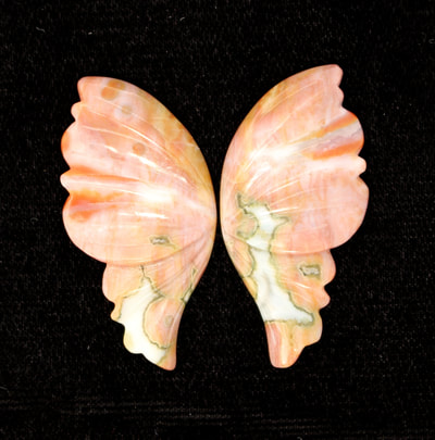 Butterfly Wings made from Ocean Jasper