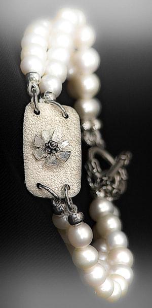 pearlbraceletcustom jewelry by nadine