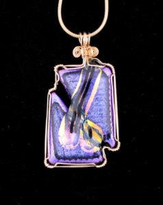 Dichroic Glass in Indigo, black, & lavender