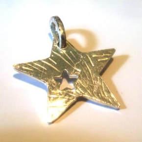 Fine Silver star pendant