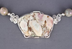 Cream Rose Agate, a beautiful blend of pink, brown, and ivory.