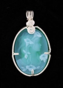 Agate Cameo wrapped in Sterling Silver