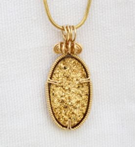Gold Druzy.  Gold and extra sparkle all in one.