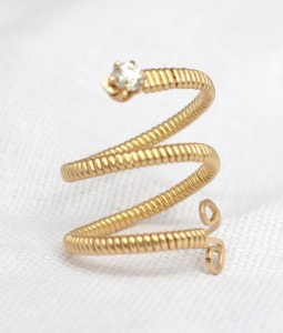 Snake Ring in Gold