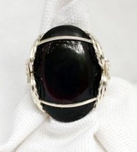 Pharaoh Ring Black Onyx and Silver